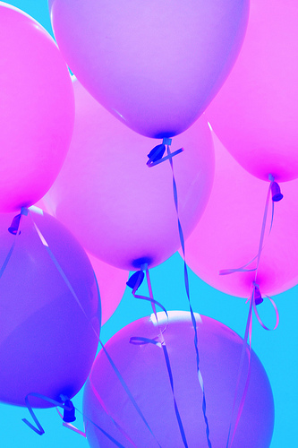 Balloons purple