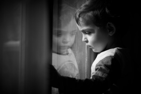 Boy and reflection