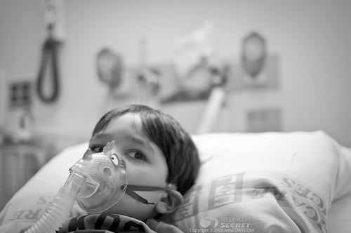 Boy in Asthma attack