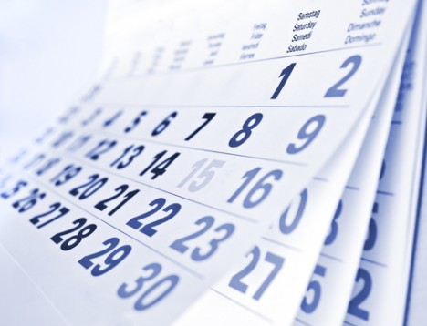 Calendar side shot