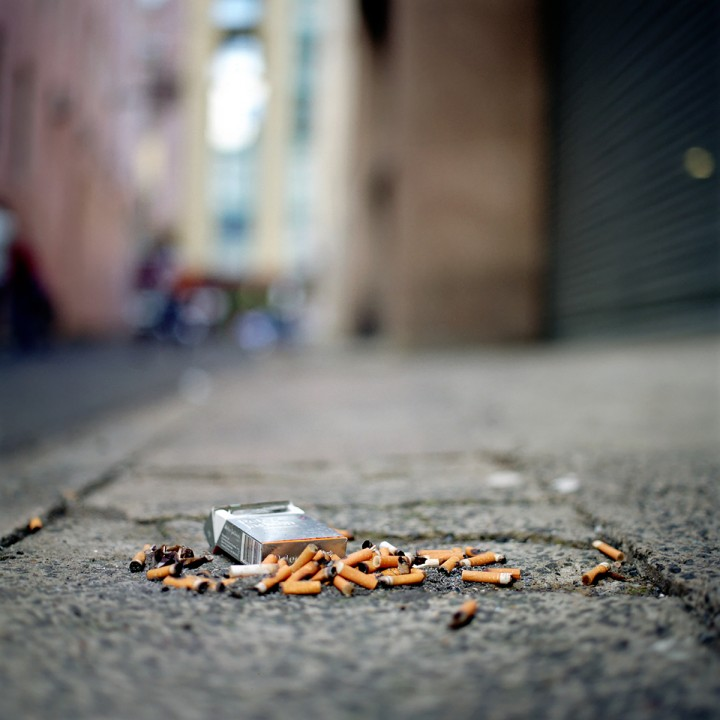 Cigarettes on ground
