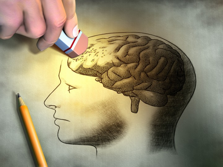 Erasing brain drawing