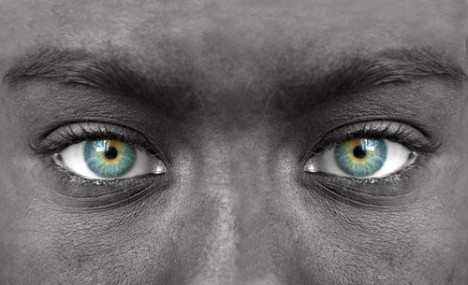 Human face dramatic eyes