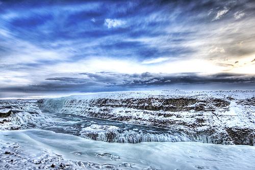 Ice flat land