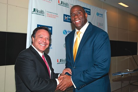 Mike Fernandez with Magic Johnson