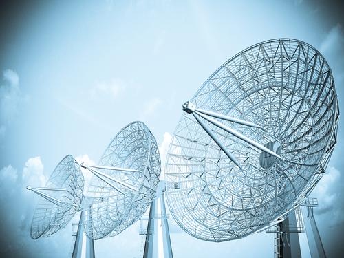 Satellite dish blue