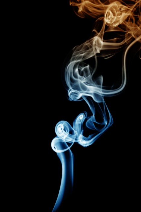 Smoke black background