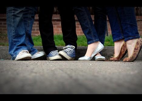 Teenager feet