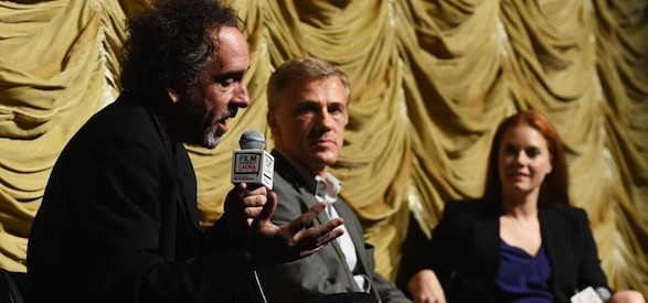 Left to Right: Tim Burton, Christoph Waltz and Amy Adams